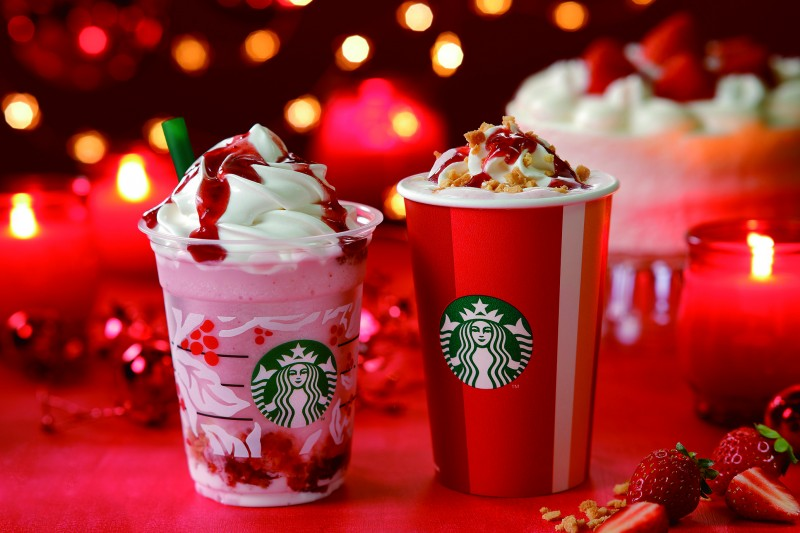FY19 Holiday Phase1 「クリスマス_ストロベリー_ケーキ_フラペチーノR」「クリスマス_ストロベリー_ケーキ_フミルク」